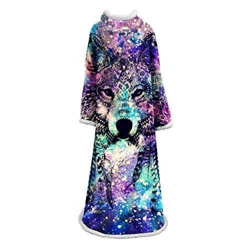 Mouw deken 3D deken, flanel cape, gooien deken, quilt jas Badjas, artistieke persoonlijkheid, deken 127 * 178cm mouwlengte 65 cm