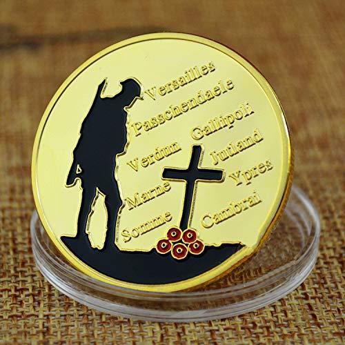 Großbritannien,Erster Weltkrieg,Gedenkmünze,Vergoldet,Herausforderungsmünze,Abzeichen,Usa,Entscheidungswährung,2-Tlg Gute Qualität/golden/Einheitlicher Code