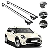 Roof Rack Crossbars Fits Mini Clubman Cooper 2015-2021 | Luggage Kayak Cargo Hard-Shell Carrier | Aluminum Rooftop of Your Car or SUV | Silver 2 Pcs.