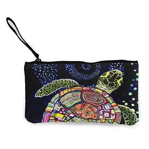 XCNGG Women's Wristlet Wallet Clutch for Smartphones with Wrist Strap Card Coin Purse Case - Dog Family's Beach Holiday
