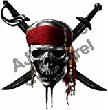jolly roger car window decal - Pirates Skull Version #2-6