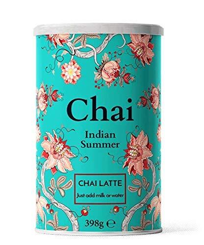 Nordic Roast | Chai Latte Tee | Indian Summer | 398g | Instant-Chai Tee Latte-Mischung in Pulverform, schwarzer Tee mit Milch, zu genießen zu Hause oder im Café, reicht für 15 Tassen