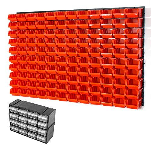 126piezas pared estantería Inbox Talla 2agujeros Naranja Taller pared fuerte placa de pared