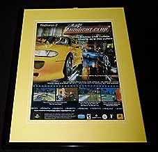 2000 Midnight Club Street Racing Playstation 2 PS2 Framed ORIGINAL Advertisement