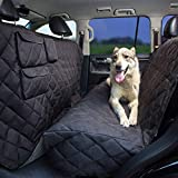 Tapiona XXL Dog Seat Cover - 63Wx94L XXL Back Seat Cover for Cars, Trucks & SUVs - Pet Hammock, Heavy Duty, Waterproof, Nonslip, No Odor, Seat Anchors, Washable + Pet Travel Bowl