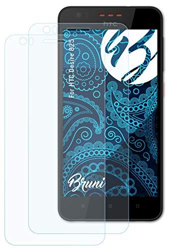 Bruni Schutzfolie kompatibel mit HTC Desire 825 Folie, glasklare Bildschirmschutzfolie (2X)