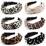 TOBATOBA 6 Pieces Women Headbands Wide Knot Dot Hairbands Turban Headbands for Women,Inclu...