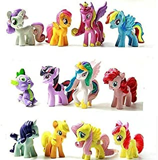 12pcs Miss Pony Colorful Cupcake Cake Topper PVC Action Figures Kids Girl Toy Dolls Decoration