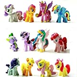 12pcs Miss Pony Colorful Cupcake Cake Topper PVC Action Figures Toy Dolls Decoration