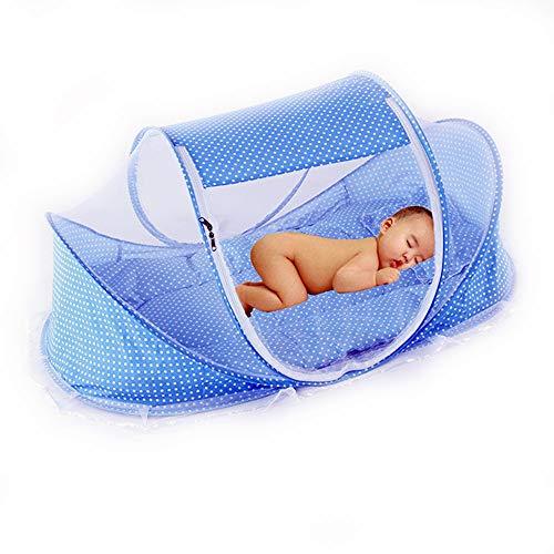 CHRISLZ Mosquitero de verano para niños, portátil plegable cama de viaje de...
