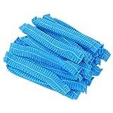 Beaupretty 100 Pz Tappi Monouso Comodo Non Tessuto Cuffia da Doccia Elastico da Laboratorio Cuffia da Bagno in Plastica per Trucco Medico Blu