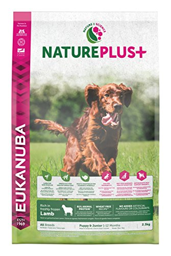 Eukanuba Nature Plus Lamb Puppy & Junior per Cani Cuccioli e Giovani Agnello - 2.3 kg