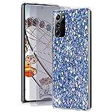 Feyten Cover per Galaxy Note 20 Ultra 5G / 4G con HD Pellicola [2 Pack],Lucciante Brillantini Design TPU Gel Silicone Protettivo Cover Custodia per Samsung Galaxy Note 20 Ultra 5G / 4G (Blu)