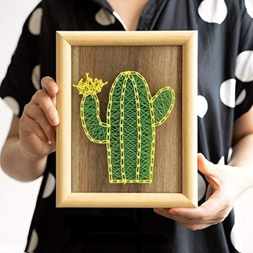 Handgemaakte string zijde schilderij cactus nagels kronkelende schilderij DIY ornamenten decoratieve schilderijen 18 * 23cm