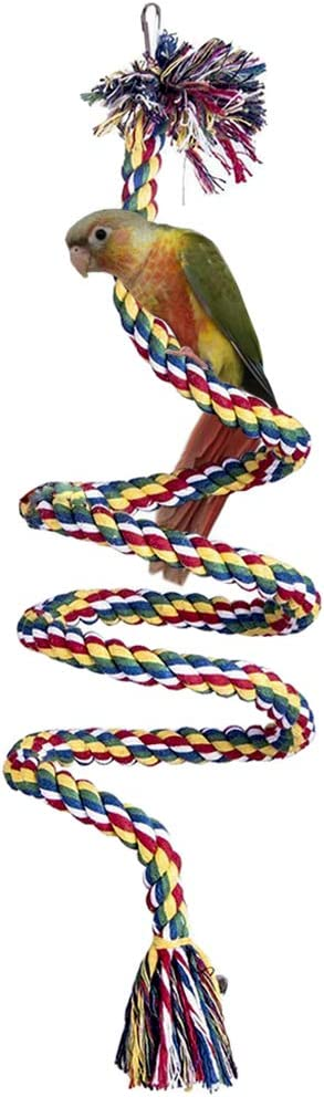 LeerKing Bird Perches Regular dealer Shipping included Stand Rope Swing Perch Parro Toy