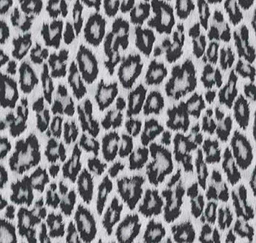 AS4HOME Klebefolie für Möbel Leopard Grau – 45 cm x 200 cm