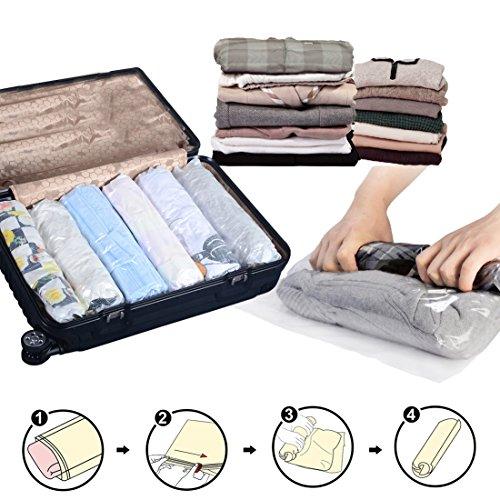 12Paquete Ahorro de espacio compresa Roll-up de viaje bolsas de...