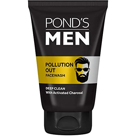 Pond's Men Pollution Out Activated Charcoal Deep Clean Facewash, 100 g