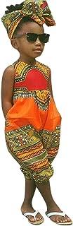 Haarband mit Zwei S/ätzen Zolimx Kleinkind Kinder Baby M/ädchen Sommer Romper Jumpsuit Outfits Kleidung Afrikanischen Print /Ärmelloses Nationaler Stil Spielanzug Overall