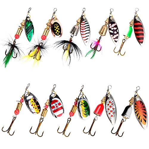 Jinlaili 10PCS Kit de Leurre de Pêche, Appât de...