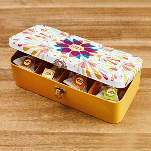 Gefüllte Lipton Teebox mit Pyramiden-Teebeuteln