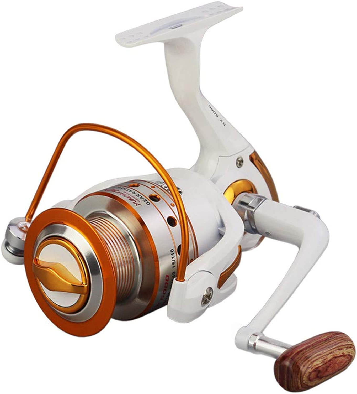 XBLAA redating Fishing Reel 12 + 1 Bearing Left Right Interchangeable Handle, Double Drag Braking System Fishing Reel Accessories