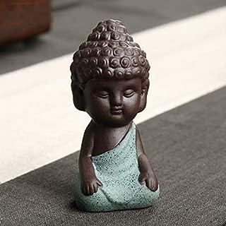 TULLE HOT- Buddha Statues&Sculptures - Home docer Small Buddha Statue Monk Figure Tea pet Buddhist Craft Zakka Decorative Ornaments Buda India Yoga Figurines - - 1 PCs