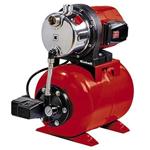 Einhell – Pompa da giardino GC-WW 1046 N (1050 W, portata massima 4600 l/h Portata, max. Pressione di mandata 4,8 bar, interruttore a pressione, manometro, contenitore da 20 l)