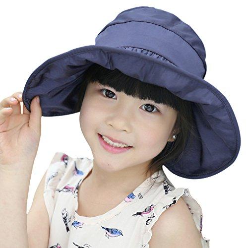 Nouveau Chapeau de Seau Enfants Pliable Panama Réglable Casquette Visière Large Bord Chapeau de Soleil en Plein Air Anti-UV Parfait pour Plage Piscine Pêche Camping Voyage Randonnée Vacances