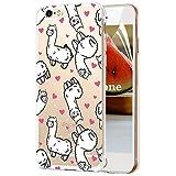 OKZone Cover iPhone 6S / iPhone 6 (4,7 Pollici) [con Pellicola Proteggi Schermo], Custodia Gel Trasparente Morbida Silicone Sottile TPU Cover Protettiva Compatibile con Apple iPhone 6S 6 (Cavallo)