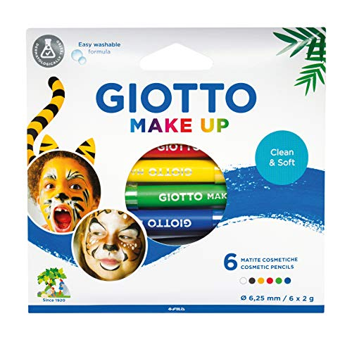 Giotto Set 6 Matite Colori Classici Trucchi per Bambini (FILA, 474000)
