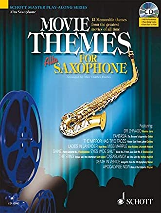 MOVIE THEMES PLAY-ALONG FOR ALTO SAXOPHONE (Schott Master Play-Along) by Max Charles Davies (2008-08-01)