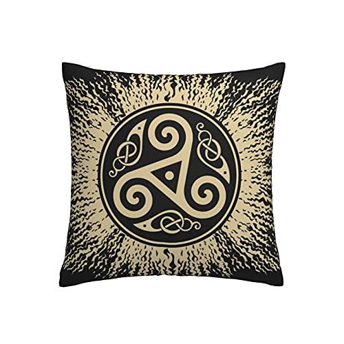 Fundas de almohada nórdicas Mythology Symbols and Meanings - Funda de cojín cálida y suave para funda de cojín decorativa en la cama, sofá, almohada al aire libre, 45 x 45 cm