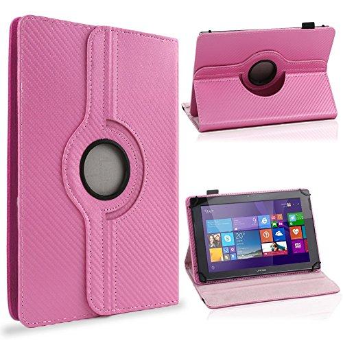 UC-Express Tablet Schutzhülle 10-10. Zoll Tasche 360° Drehfunktion Hülle Cover Hülle Stand, Farben:Pink, Tablet Modell für:Trekstor Surftab Wintron 10.1