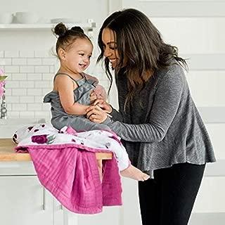 Saranoni Soft 4-Layer Bamboo Muslin Quilt Toddler Blanket, 47