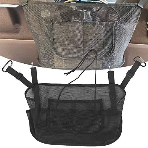 Organizador de la malla del coche, bolso negro de la malla del coche para el perfume para el monedero para el teléfono para la revista