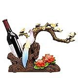 XCXC Wine Rack Encimera Soporte Libre Wine Rack Modern Craft Art Muebles creativos Sala de Estar Wine Gabinete Decoraciones