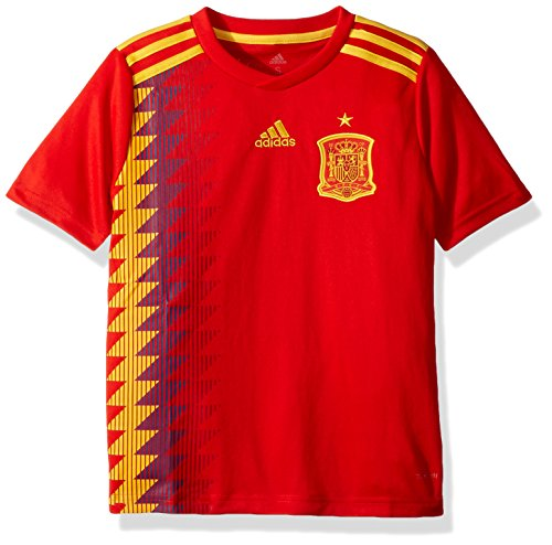 adidas Kids Boy's 2018 Spain Home Jersey (Little Kids/Big Kids) Red/Bold Gold X-Large