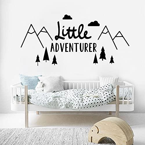 Pequeño aventurero decoración de la pared decoración de la habitación de los niños etiqueta de la pared de la habitación del bebé vinilo etiqueta de la pared Mural A8 30x63cm
