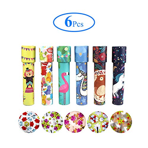 HAPTIME Set of 6 Classic Kaleidoscopes Educational Toys for Kids Party Favors Ideas Stock Stuffers Bag Fillers School Classroom Prizes, Fun for Boys Girls Children 3 4 5 6 7 8 9 Years Old