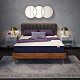 Sleep Innovations Hudson Queen 10 Inch Hybrid Mattress in a Box – Memory Foam and Innerspring – Made in USA – Medium Firm – Pressure Relieving