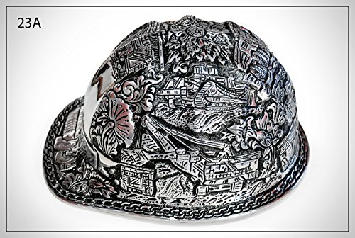 Vintage B.F. McDonald Engraved Hand Hammered Hard Hats. This is a perfect gift. Give us your name to be engraved on the front of the hat.