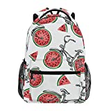Mochila para bicicleta con estampado de frutas y sandía, bolsa de gran capacidad, casual, mochila de escuela, viajes, senderismo, para mujeres y hombres