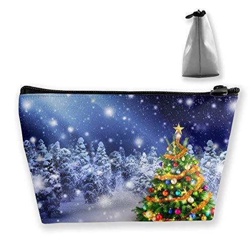 Beau sac de maquillage pour sapin de Noël, grand sac de rangement, sac de voyage, sac cosmétique, porte-stylos, fermeture éclair, étanche