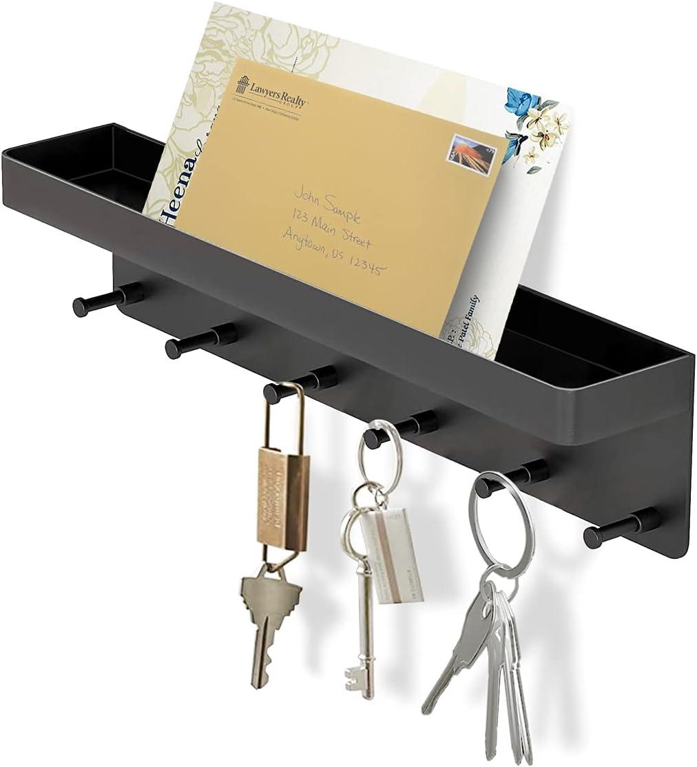 6 Hooks Fees free Key Holder for Japan Maker New Decorative Mail Moun Wall Organizer