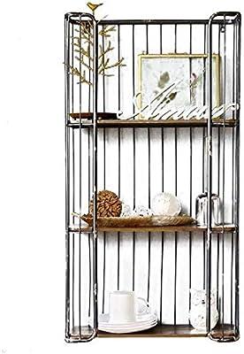 ZJJ Retro Creativo Jaula de pájaros Estante Pared decoración del ...