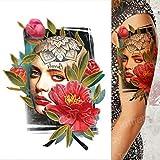 tatuaggio braccio maniche teschio tatuaggio tatoo adesivo tatuaggio manica tatoo donne tatuaggio impermeabile tatuaggio di lunga durata men-in Tatuaggi da TH528