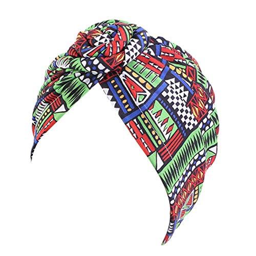 NgMik Gorras de Turbante para Mujeres 5pcs Señoras Viento Nudo Pañal de Cabeza Sombrero Africano Hecho A Mano Donut Sombrero Pullover Gorante de Gorra Turbante Plisado (Color : E, Size : One Size)