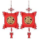 Decoración de Festivales Linterna Festivales de Primavera Chinos Linterna Festivales de Primavera Linterna Linterna China roja Fieltro Patio Jardín para el hogar