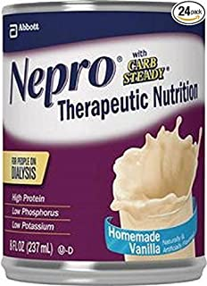 Nepro with Carb Steady Complete Nutrition, Homemade Vanilla 8 oz Cans, Case of 24 by Nepro